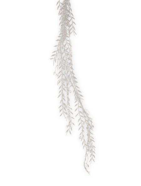Διακοσμητική γιρλάντα με φύλλα λευκά