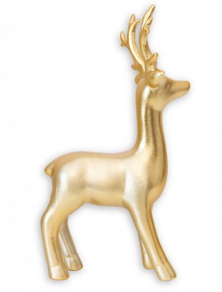 Διακοσμητικός τάρανδος από πορσελάνη χρυσός