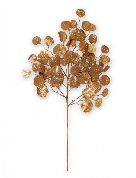 Διακοσμητικό κλαδί μπρονζέ με στρογγυλά φύλλα