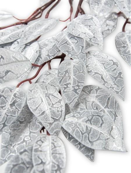 Διακοσμητικό κλαδί ασημί με λεπτά φύλλα