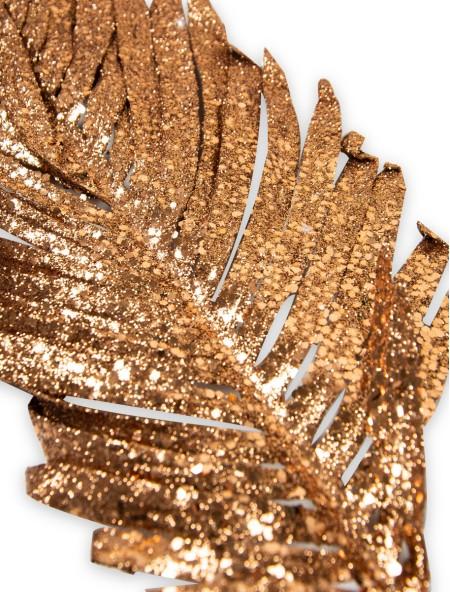Διακοσμητικό κλαδί φοίνικα με glitter