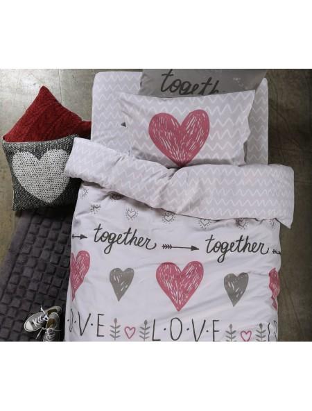 Σεντόνια μονά Love together σετ 4 τεμαχίων NEF NEF