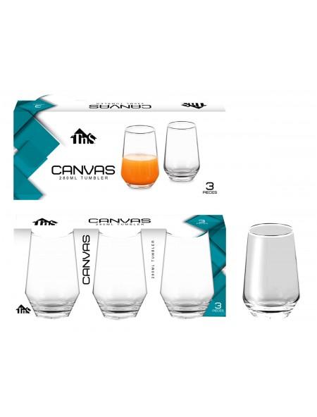 Ποτήρι νερού Canvas Tumbler σετ 3 τεμαχίων
