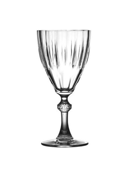 Ποτήρι για κρασί κολονάτο διάφανο σετ 6 τεμαχίων