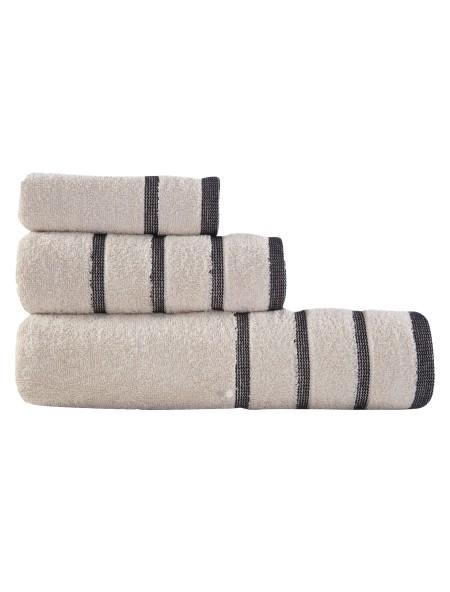 Πετσέτες σετ 3 τεμαχίων Madison Beige NEF NEF