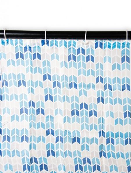 Κουρτίνα μπάνιου pacific με γεωμετρικό σχέδιο