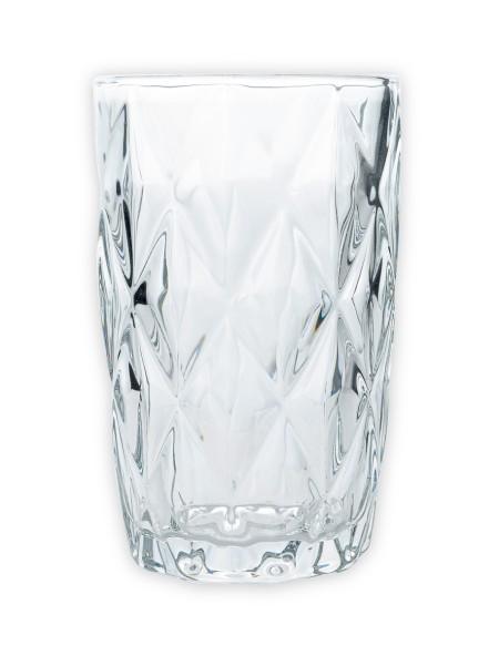 Ποτήρι νερού Diamond ανάγλυφο σετ 6 τεμάχια