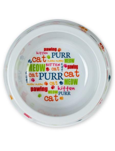 Πιάτο πλαστικό γάτας με σχέδια