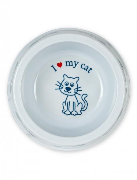 Πιάτο πλαστικό γάτας με ψαροκόκκαλα