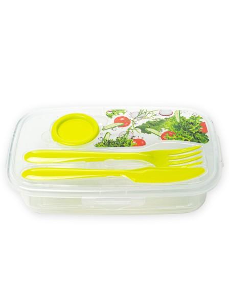 Φαγητοδοχείο πλαστικό ορθογώνιο με clips