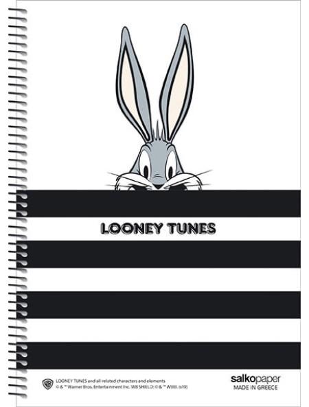 Τετράδιο σπιράλ 4 θεμάτων Looney Tunes Bugs Bunny 21x29cm