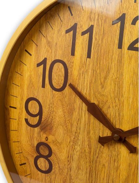 Ρολόι τοίχου με όψη ξύλου
