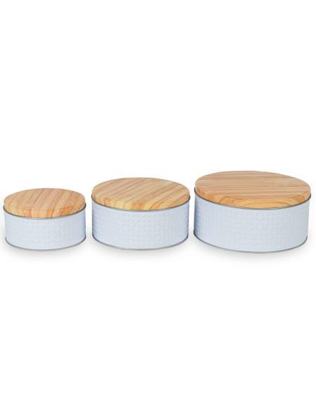 Δοχείο αποθήκευσης γλυκών σκαλιστό σετ 3 τεμάχια