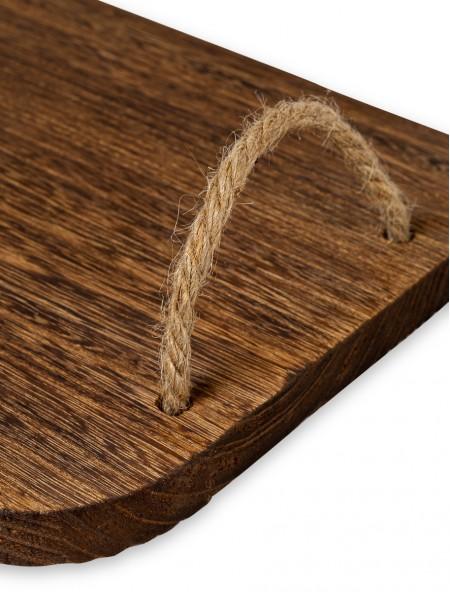Δίσκος σερβιρίσματος ξύλινος ορθογώνιος 40x24cm