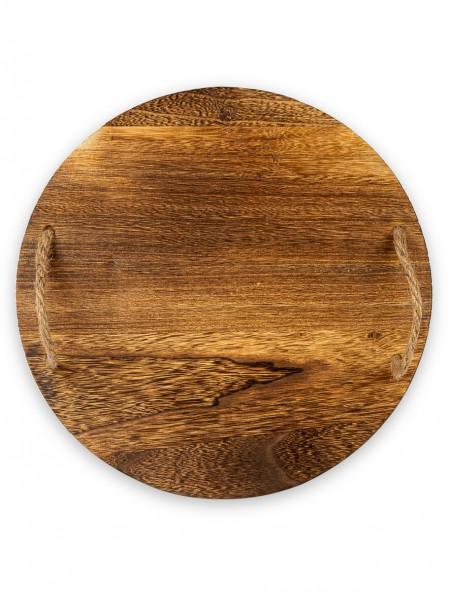 Δίσκος σερβιρίσματος ξύλινος στρογγυλός 35cm