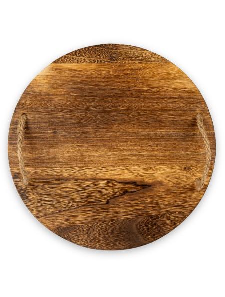 Δίσκος σερβιρίσματος ξύλινος στρογγυλός 25cm