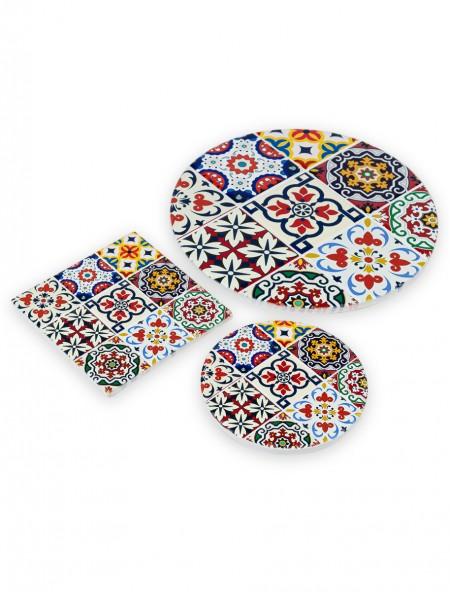 Σουβέρ κεραμικό στρογγυλό Mosaic