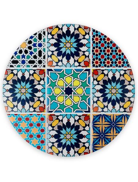 Σουπλά κεραμικό στρογγυλό Mosaic