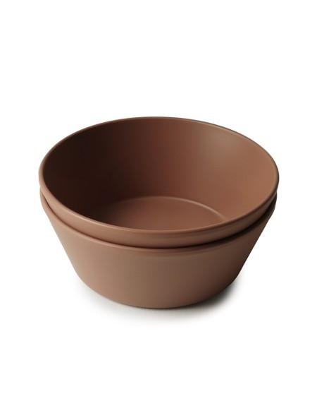 Μπολ σιλικόνης Round Caramel σετ 2 τεμάχια