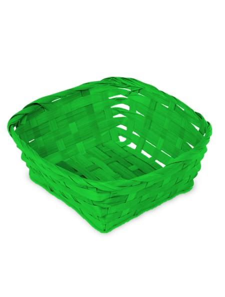Καλάθι ψάθινο τετράγωνο πράσινο