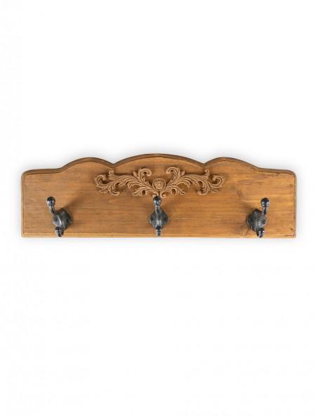Κρεμάστρα ξύλινη 3 θέσεων με Retro σχέδιο