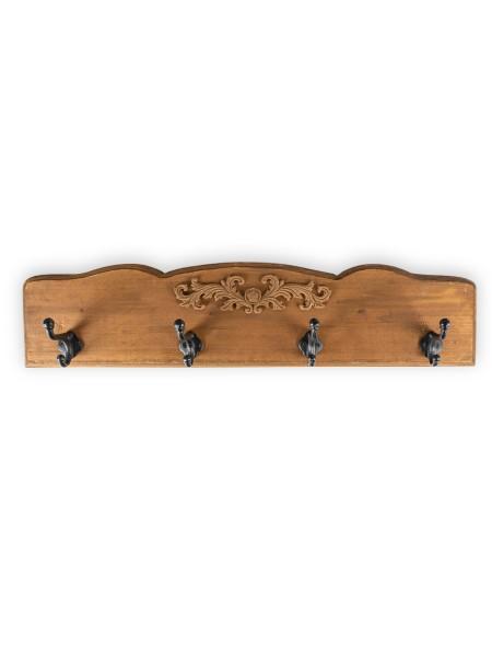 Κρεμάστρα ξύλινη 4 θέσεων με Retro σχέδιο