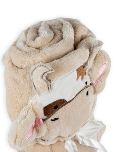 Βρεφική κουβέρτα fleece Cow