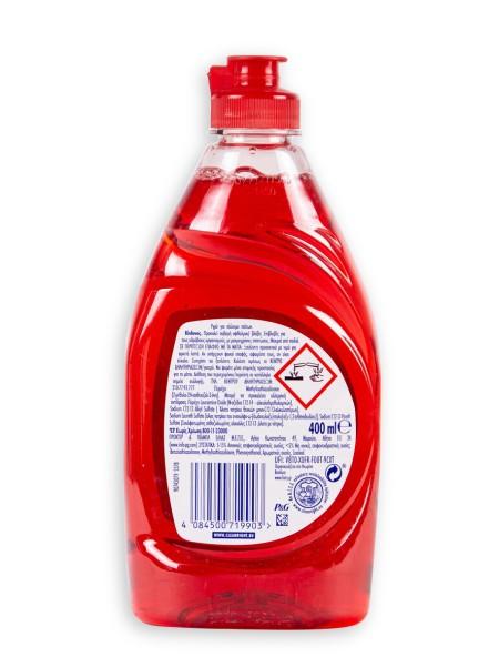 Fairy clean & fresh υγρό πιάτων κόκκινα μούρα 400ml