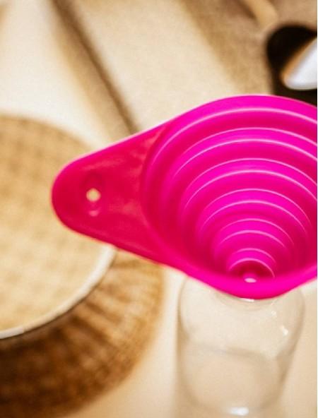 Χωνί σιλικόνης ροζ