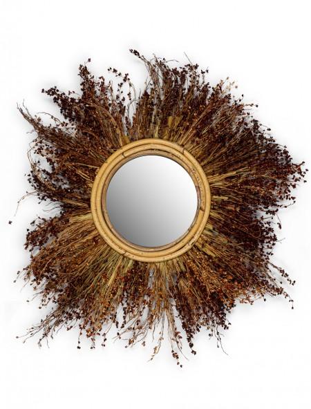 Καθρέφτης με αποξηραμένα λουλούδια