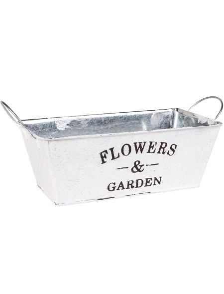 Κασπώ μεταλλικό Flowers & Garden ορθογώνιο