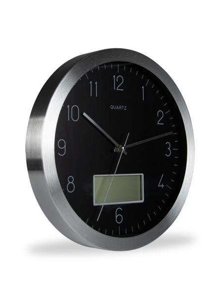 Ρολόι τοίχου με μεταλλική όψη
