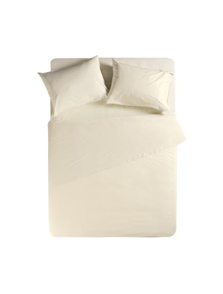 Σεντόνι υπέρδιπλο με λάστιχο Basic Cream NEF-NEF