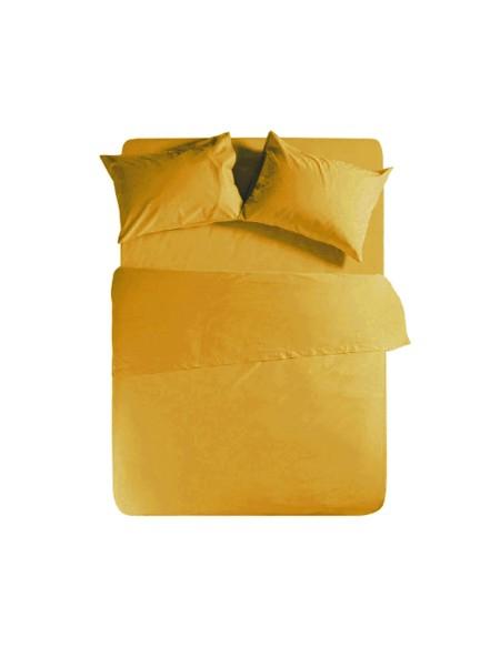 Σεντόνι υπέρδιπλο με λάστιχο Basic Yellow NEF-NEF