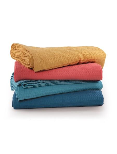 Κουβέρτα πικέ μονή Cool Coral NEF-NEF