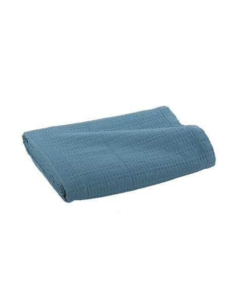 Κουβέρτα πικέ μονή Cool Dusty Aqua NEF-NEF