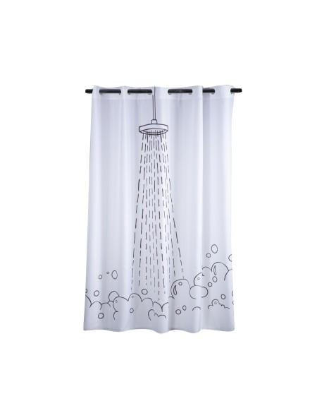 Κουρτίνα μπάνιου Perfect Shower NEF-NEF 180X180 White