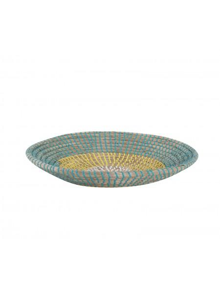 Διακοσμητικό Πιάτο Τοίχου Indra Yellow/Aqua NEF-NEF