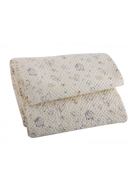 Βρεφική κουβέρτα πικέ κούνιας Lovely Family NEF-NEF
