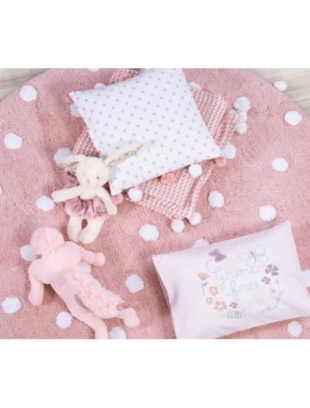 Παιδικό Χαλί στρογγυλό Deco Time Pink NEF-NEF