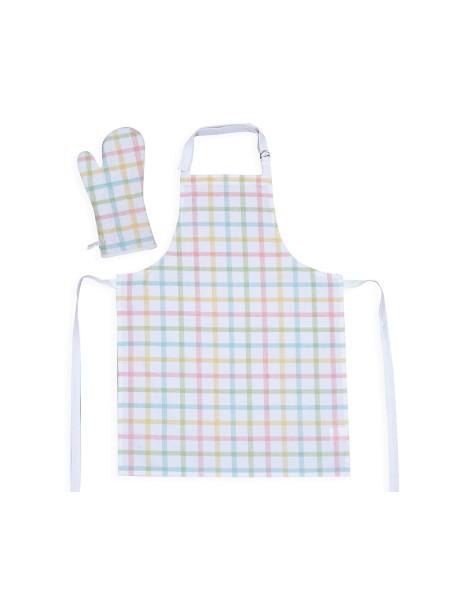 Ποδιά και Γάντι Κουζίνας σετ Walter Multi NEF-NEF