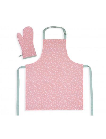 Ποδιά και Γάντι Κουζίνας σετ Inspire Pink NEF-NEF