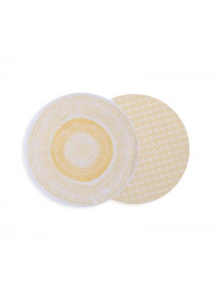 Σουπλά στρογγυλό υφασμάτινο Confident Yellow NEF-NEF