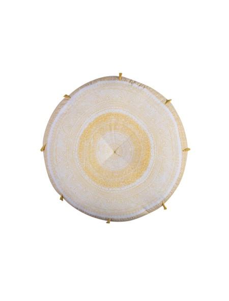 Μαξιλάρα Δαπέδου Στρογγυλή Confident Yellow NEF-NEF