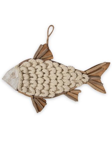Διακοσμητικό κρεμαστό ξύλινο ψάρι