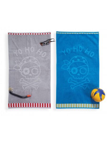 Παιδική Πετσέτα Θαλάσσης Yo Ho Ho Grey NEF-NEF