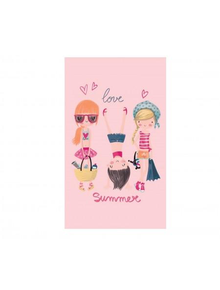 Παιδική Πετσέτα Θαλάσσης Beach Girls Pink NEF-NEF