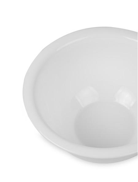 Γυάλινο λευκό μπολ σερβιρίσματος 22.2cm