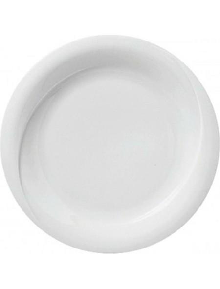 Πιάτο πορσελάνης ρηχό λευκό 25cm