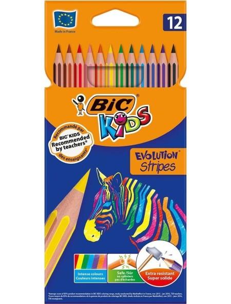 Bic Kids Evolution Stripes Σετ Ξυλομπογιές 12τμχ